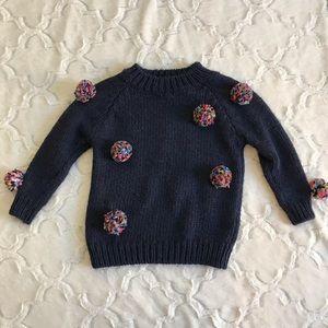 Zara Knitwear Fancy Collection pom pom sweater